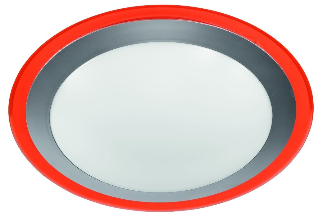 LED Deckenleuchte mit orangenem Ring
