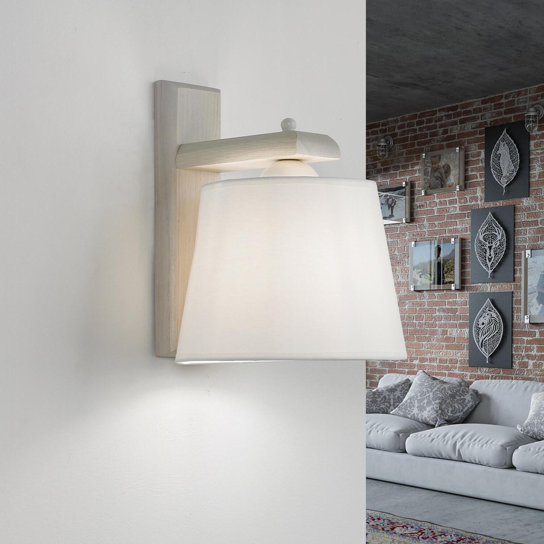Wohnliche Wandlampe BEVERELY Holz 3-flmg Leuchte