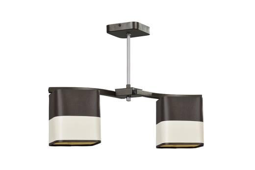 Wohnzimmerlampe LOTTE Braun Stoff L:52cm wohnlich