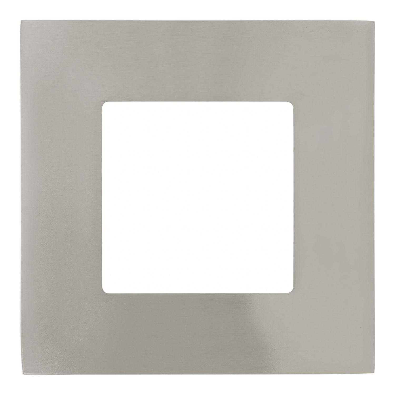 Einbau LED Spotstrahler Fueva Nickel-Matt Eckig