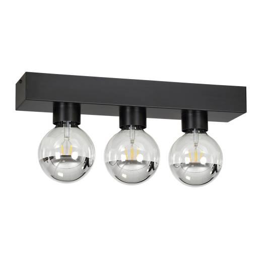 Deckenleuchte Schwarz eckig minimalistisch 3x E27