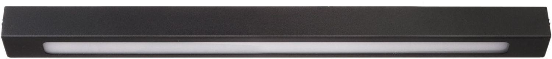 Schmale Deckenleuchte Futura LED Schwarz Modern