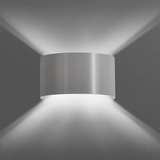 Indirekte Wandleuchte Grau Modern Up Down Metall