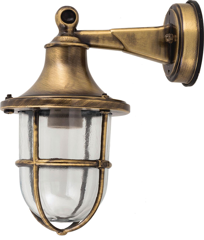Messing Wandlampe IP64 Maritim Haus Hof SANTORIN