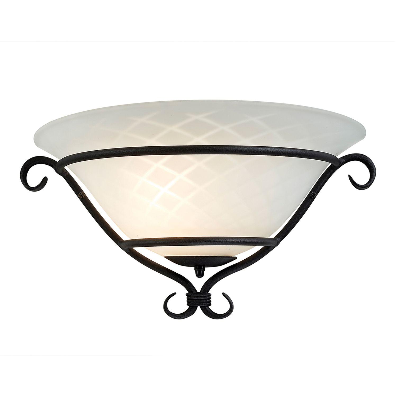 Wandlampe AUSTEN Landhaus Metall Glas Leuchte Flur