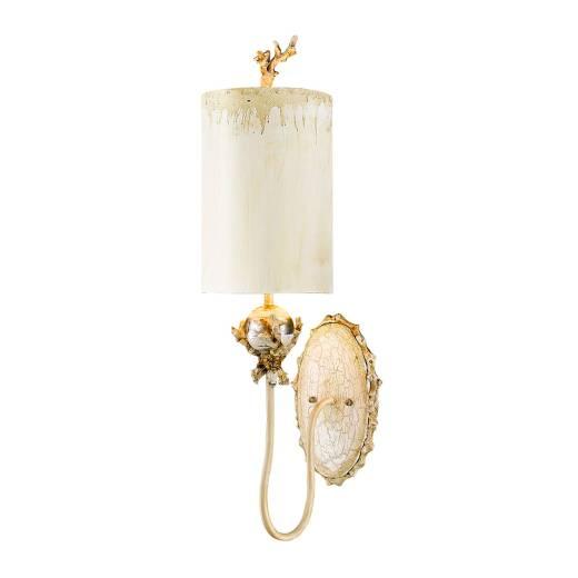 Wandlampe ELIF in Blattgold Creme B:19cm Lampe