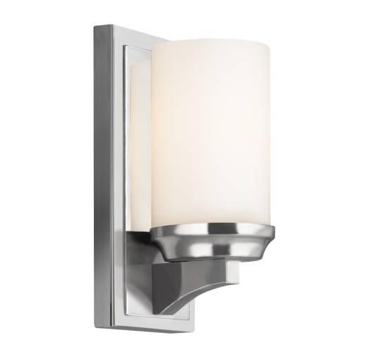 LED Badezimmerleuchte IP44 Glas Schirm Weiß Chrom
