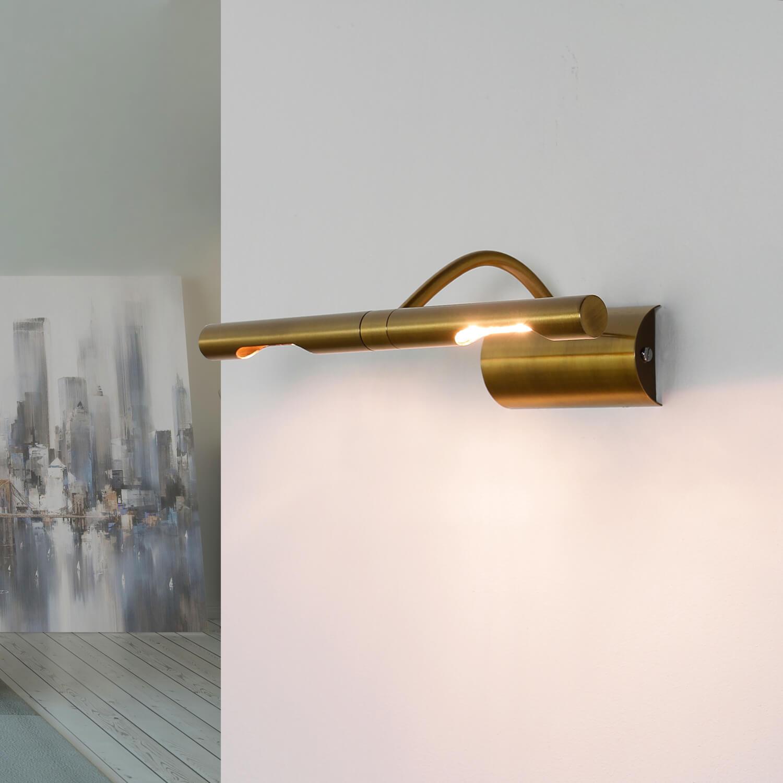 Bilderlampe in Bronze 2x G9 Wohnzimmer
