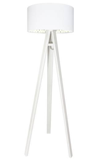 Stehlampe Weiß Punkte Holz Dreibein 140cm Kinder