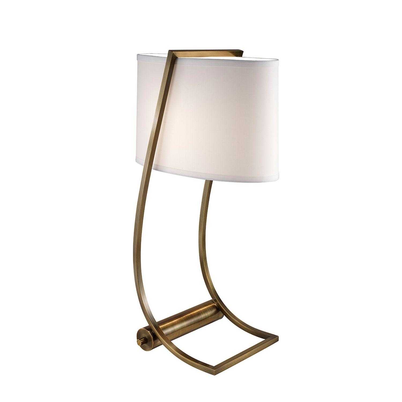 Tischlampe FEDELE in Messing H62cm Wohnzimmerlampe