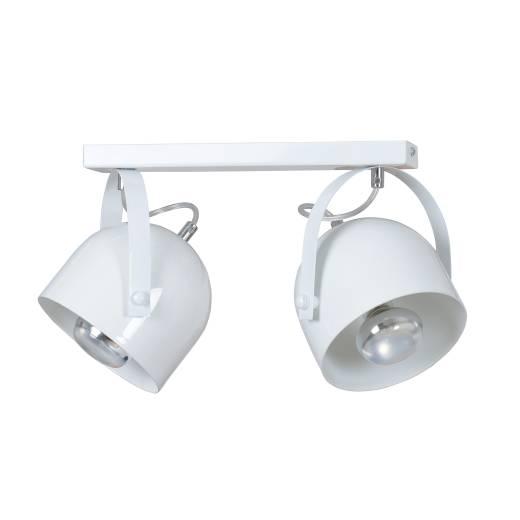 Deckenstrahler Flexibel Weiß Metall E27 Retro