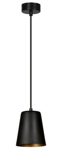 Pendelleuchte mit Schirm Schwarz Gold Metall E27