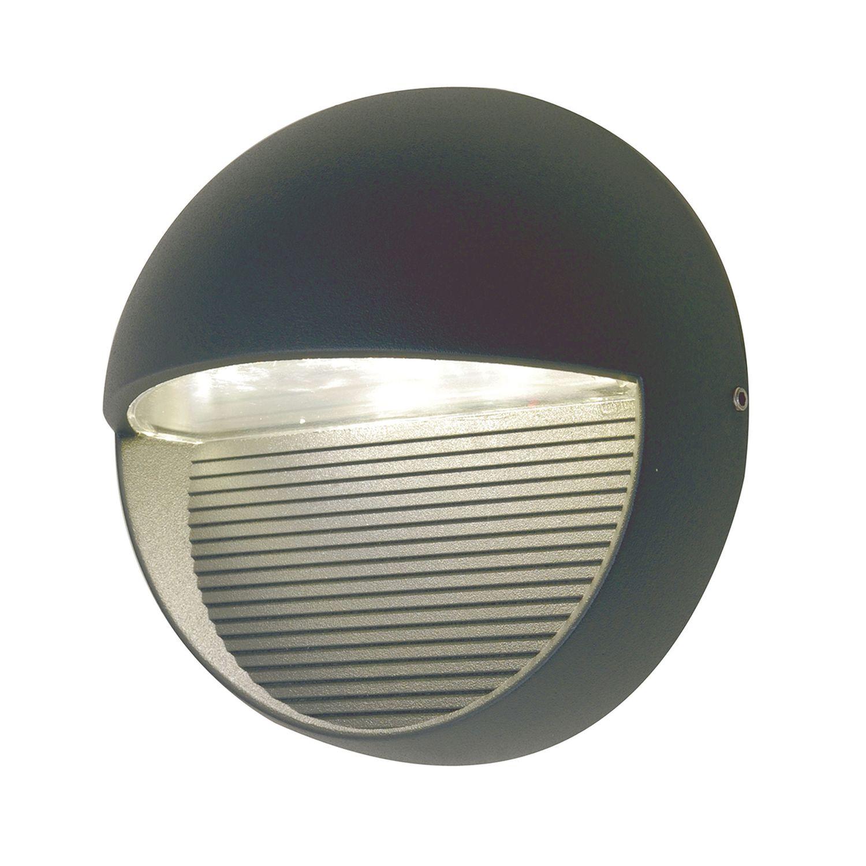LED Wandlampe Anthrazit Aluminium rund IP65 robust