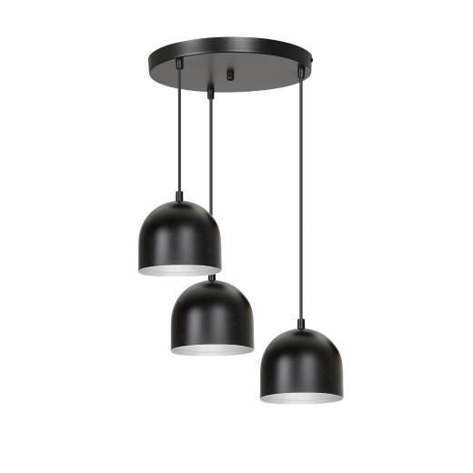 Hängeleuchte Retro Design Schwarz Weiß Esstisch