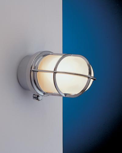 Außenwandlampe Messing in Chrom Maritim IP44
