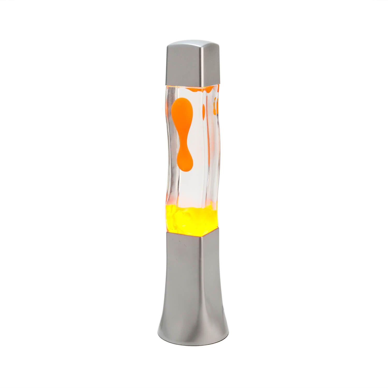 Fröhliche Lavalampe Orange Retro Lampe BECKSTER