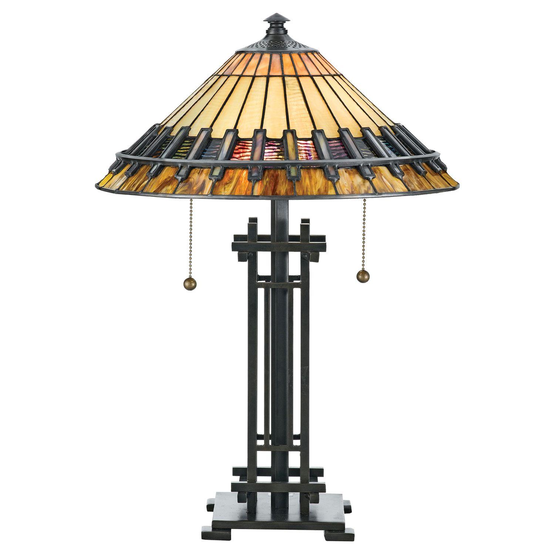 Tiffany Lampe Tisch Zugschalter 57cm hoch Premium Design
