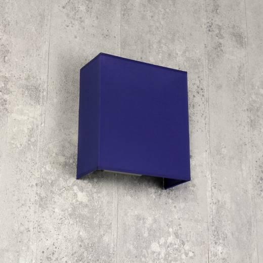 Loft Wandlampe ALICE Stoff Schirm Blau E27 eckig