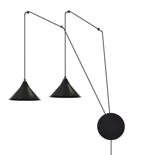 Schwarze Hängeleuchte mit Stecker flexible Montage