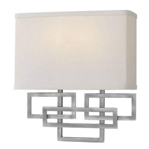 Wandlampe CHINO Nickel Design Lampe Wohnzimmer