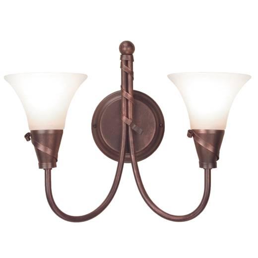 Wandleuchte ROHDIN Kupfer B:36cm Wohnzimmer Lampe