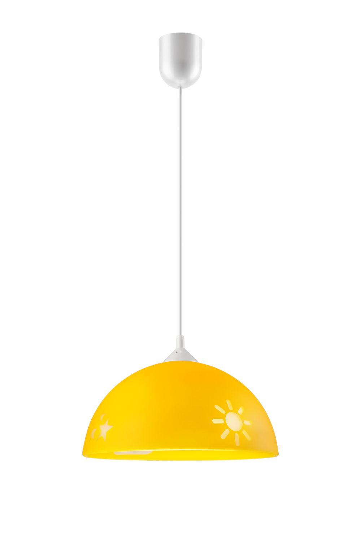 Pendelleuchte Farbig Kinderlampe Gelb Kunststoff