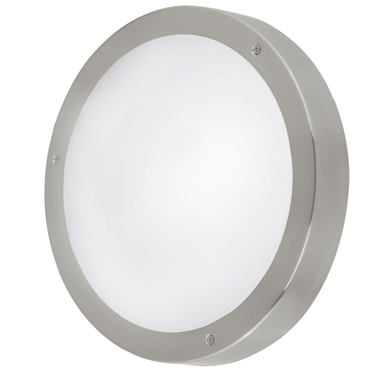 Wandleuchte LED Außen Vento Weiß Lackiert Ø28,5cm