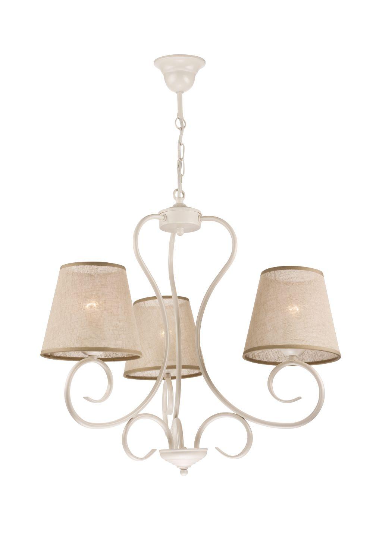 Kronleuchter Beige Landhaus Stoff Esstisch Lampe