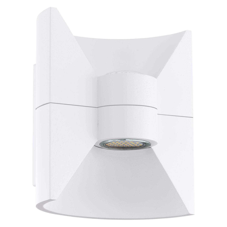 Sparsame Wandaußenleuchte Redondo Weiß 2-Flmg LED