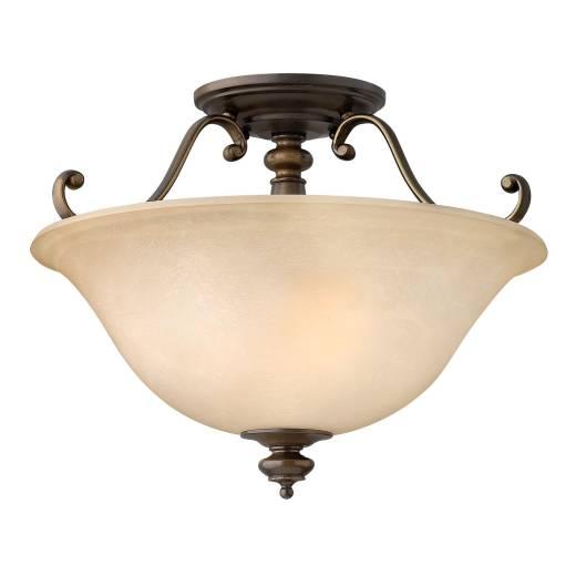 Deckenleuchte ANABELL 2 Braun Rustikal Lampe Küche