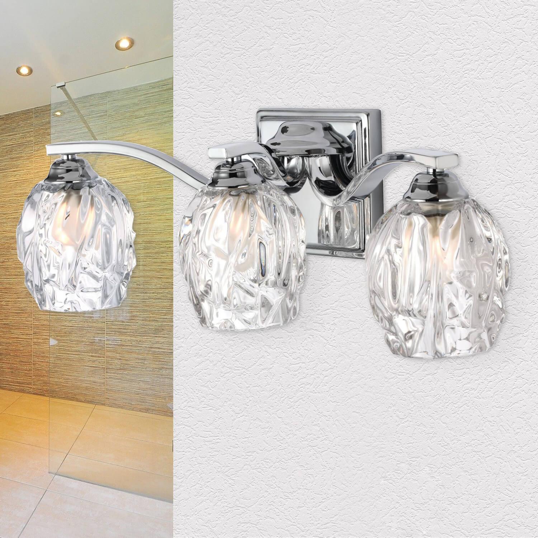 LED Badezimmerleuchte IP44 Glas spritzwasserdicht