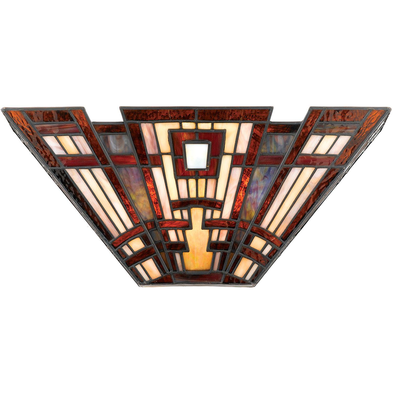 Tiffany Lampe Wand Buntglas Flur Wohnzimmer ETERNO 4