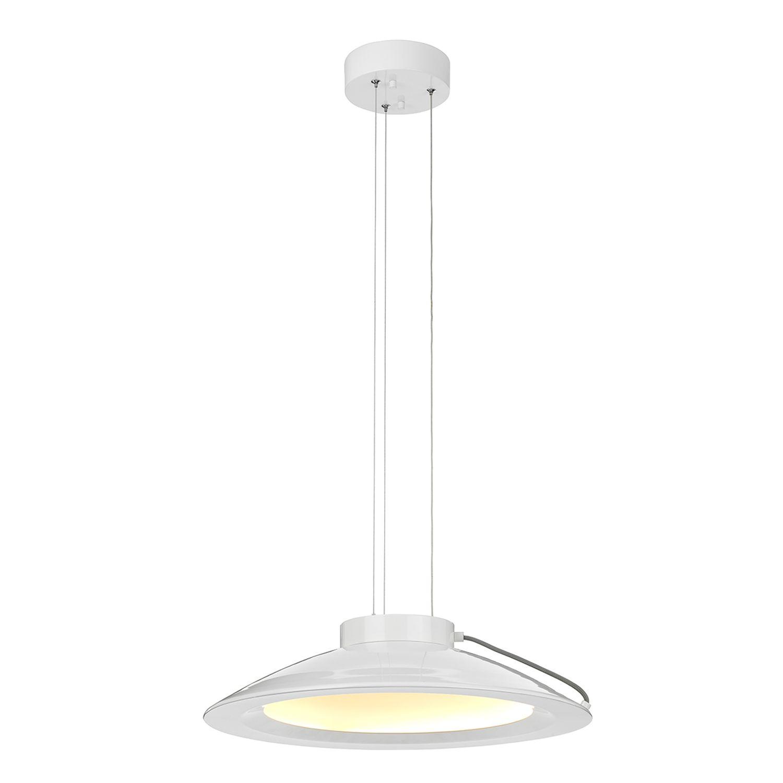 Weiße LED Pendelleuchte KOPPLA Ø35cm Retro Lampe