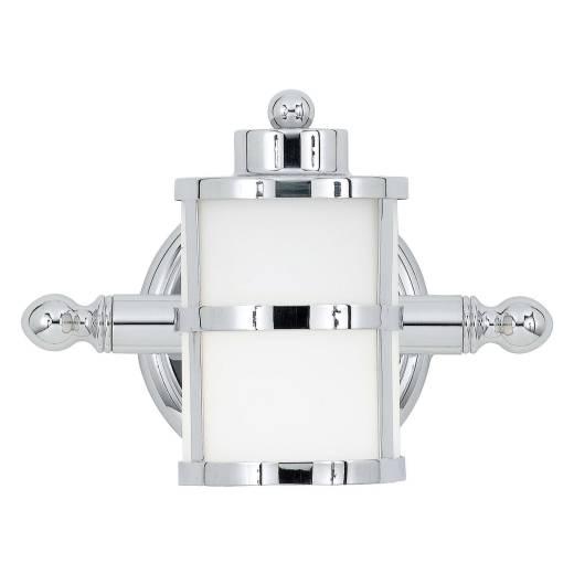 LED Wandlampe ENISA in Chrom IP44 Bad Leuchte