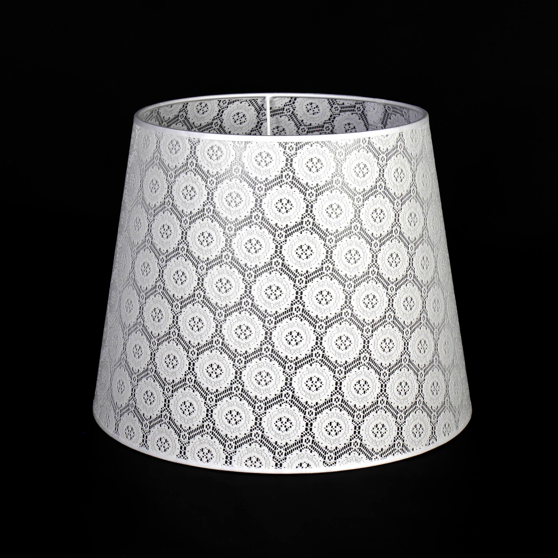 Lampenschirm Stehlampe Weiß Spitze Textil E27