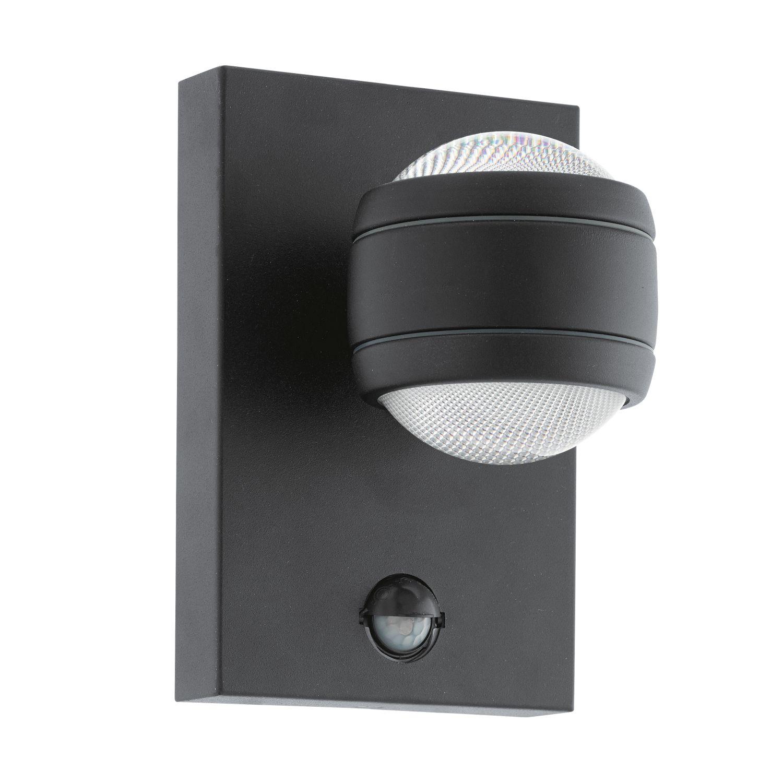 Sensor Wandleuchte LED Außen Sesimba Schwarz 2-Flmg