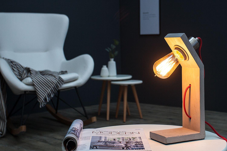 Design Schreibtischlampe CEMENT Beton massiv Modern