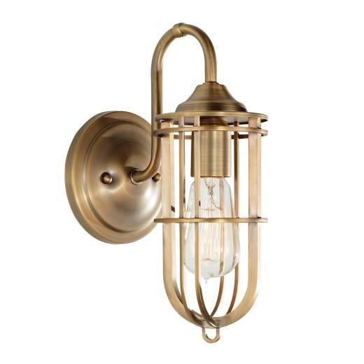 Wandlampe LANA in Messing Antik B:14cm Lampe