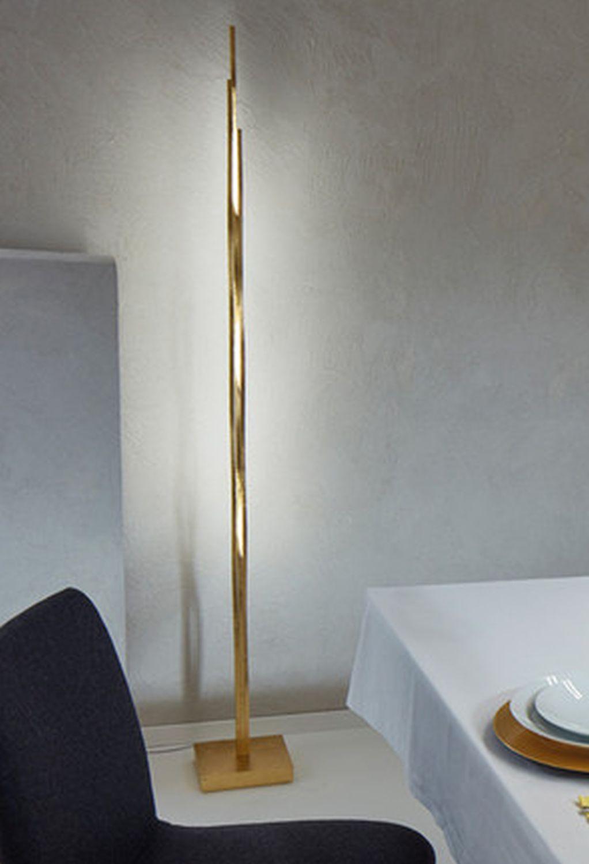 Escale - 44040009 LED Stehlampe Dimmbar Blattgold edles Design Wohnzimmer SILK