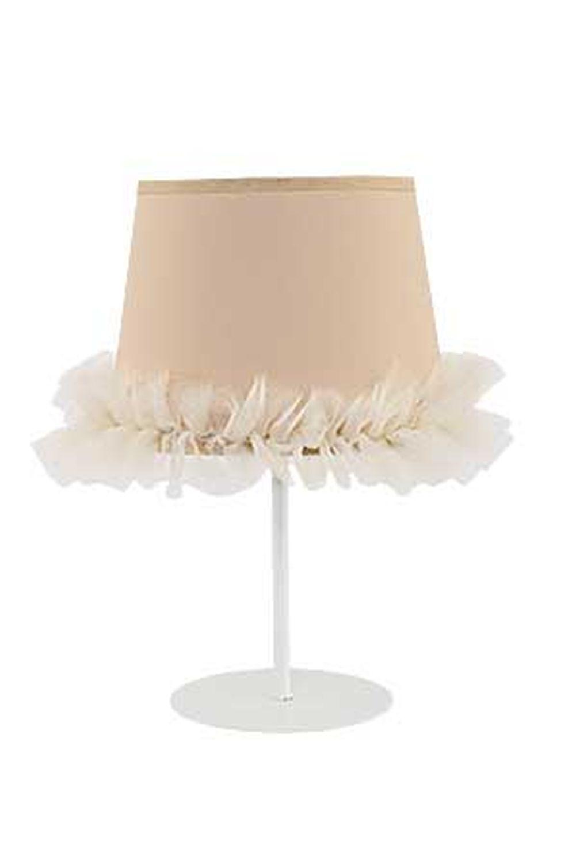 Kleine Tischlampe Stoff Schirm 35cm Kinder Mädchen