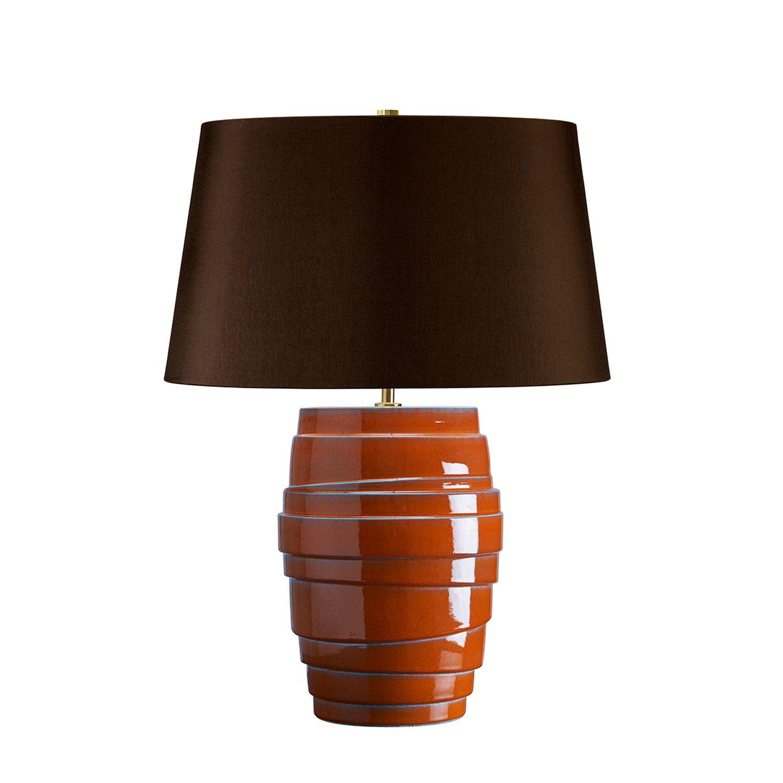 Tischlampe AVORIO Porzellan Orange Retro Lampe