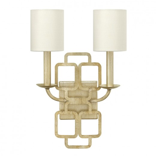 Wandleuchte HAZAL in Gold Blattsilber Metall Lampe