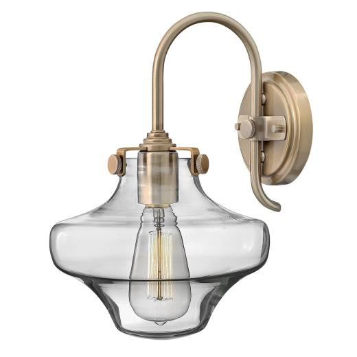 Edle Wandlampe SERENO Industrial Design Metall Glas