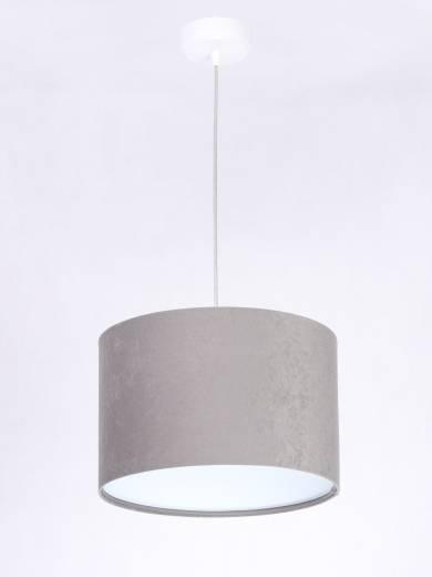 Hängelampe Grau Weiß Retro rund Esszimmer Leuchte