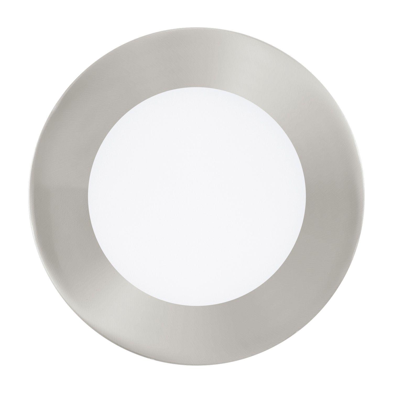 Einbau LED Spotstrahler Fueva 1 Nickel-Matt Ø12cm