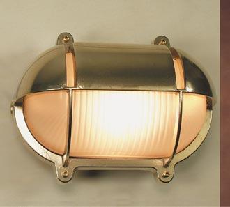 LED Außenwandleuchte Schiffslampe Messing Glas IP54