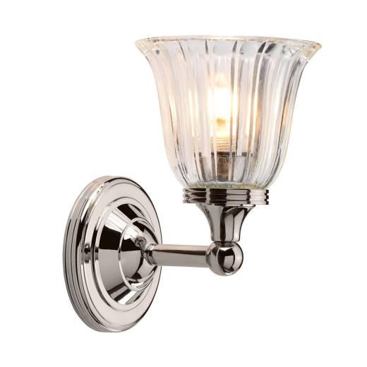 LED Badezimmer Lampe Messing massiv in Nickel IP44