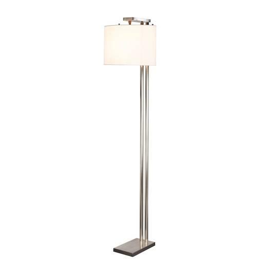Stehlampe ASRI Creme Nickel 166cm Modern Wohnzimmer