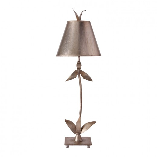 Stehlampe ELIF in Blattsilber H:76cm Bodenlampe