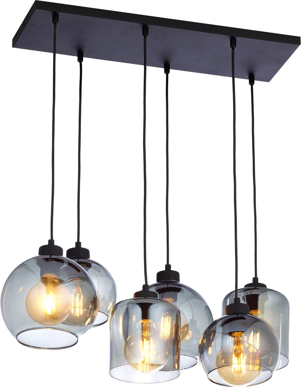 Pendelleuchte in Graphit Schwarz 6 Esstisch Lampe